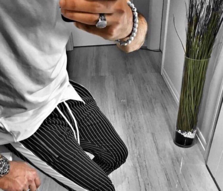 ◆トレンド◆ジョガーパンツ ストライプ ラインパンツ ジャージ スウェットパンツ メンズ 美脚 脚長 リラックス おしゃれ 男女兼用