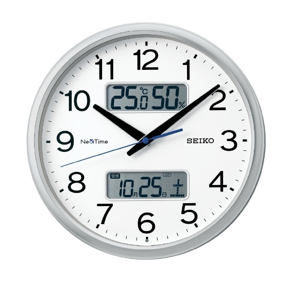 最落1円 訳あり品 セイコー 電波掛時計 定価15,000円 ZS251S スマホとリンク時間自動修正