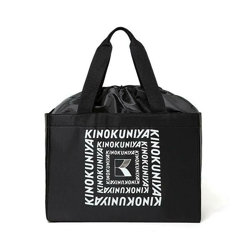 紀ノ国屋 エコバッグ ブラック レジカゴバッグ 保冷 保温 ショッピングバッグ