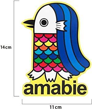 amabie 2枚セット アマビエ 日本製 マグネットステッカー お守り 縁起物 カーマグネット 撥水性 耐候性 UV加工 (a_画像8