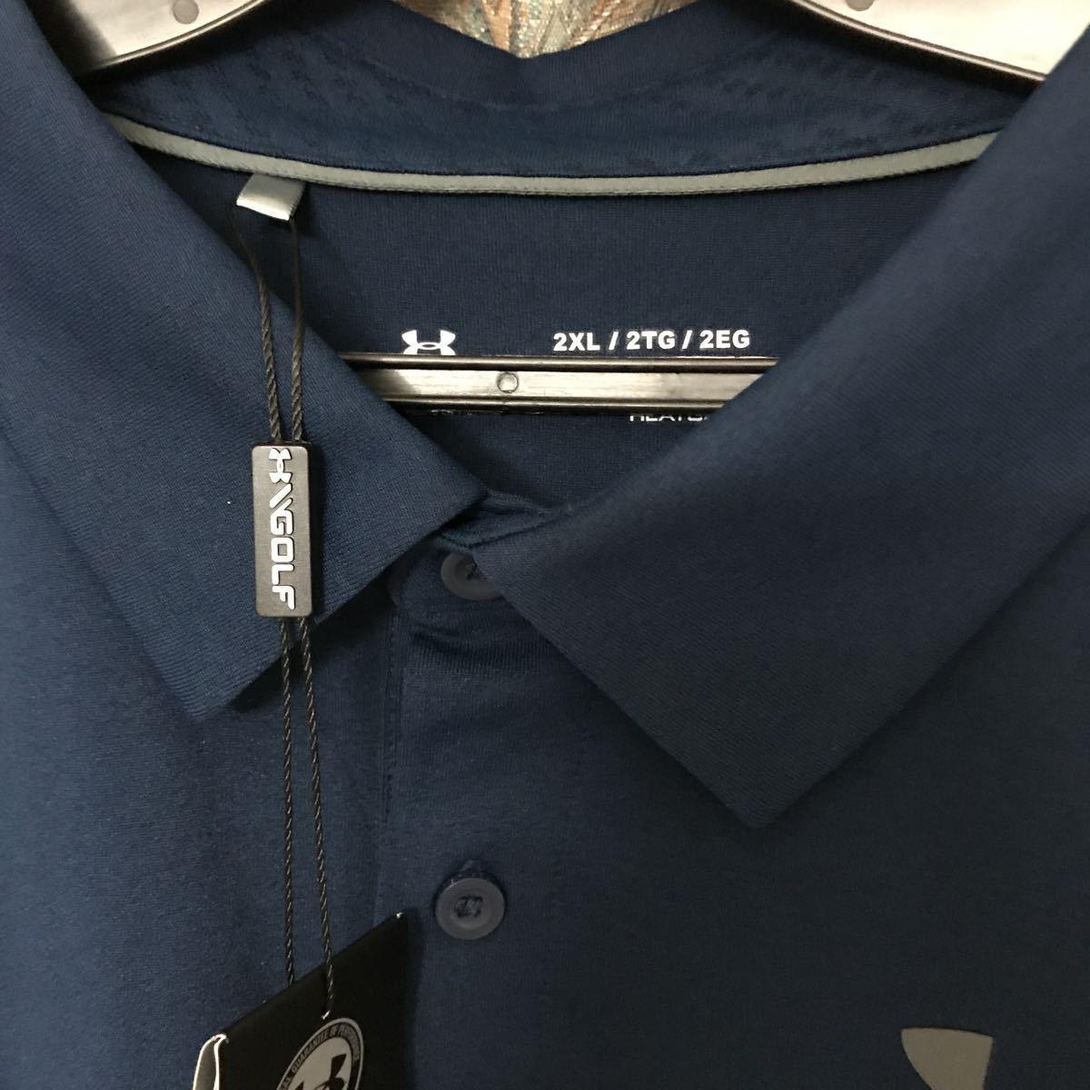 新品アンダーアーマー 半袖ポロシャツ XXLサイズ メンズ ゴルフ ビッグサイズ ビックサイズ 9900円→5500円