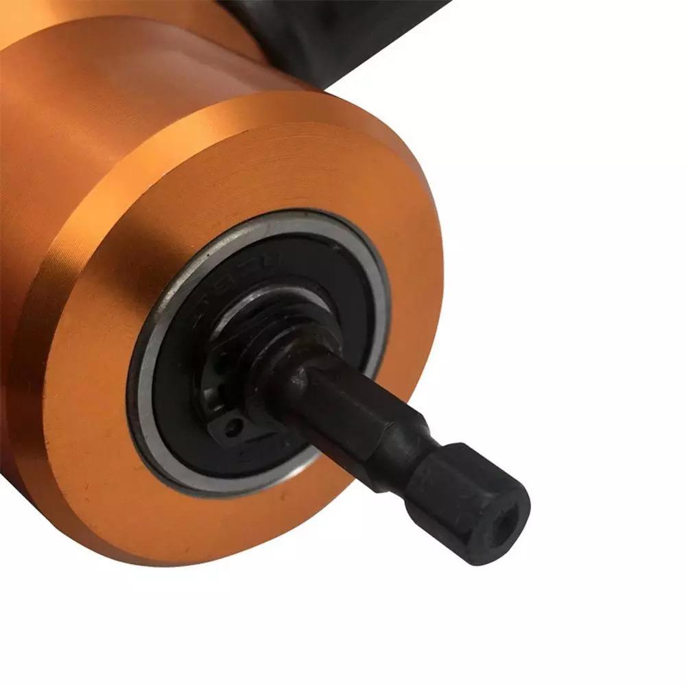双頭シート 金属 切削 ニブラー 金属 鋸カッター 360度 調整可能 ドリルアタッチメント 余分なパンチ 切削 工具_画像7