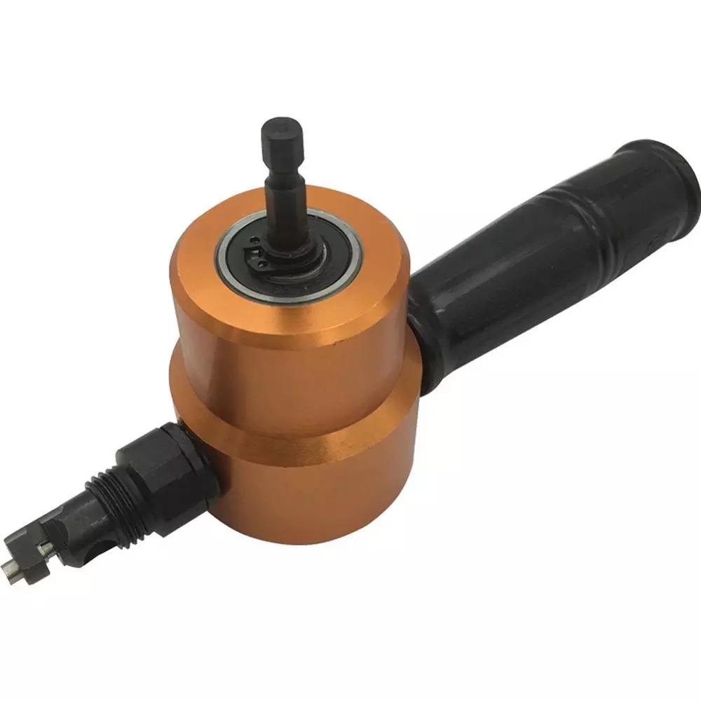 双頭シート 金属 切削 ニブラー 金属 鋸カッター 360度 調整可能 ドリルアタッチメント 余分なパンチ 切削 工具_画像3