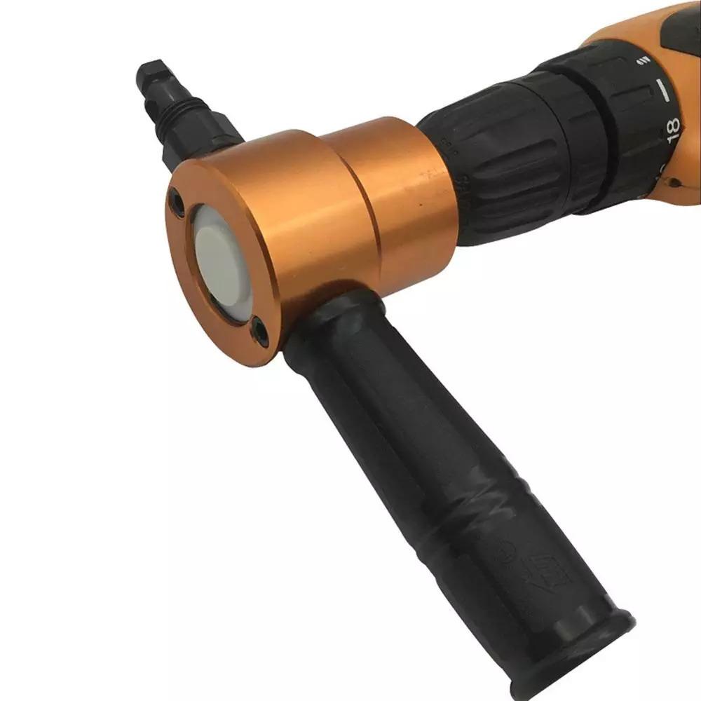 双頭シート 金属 切削 ニブラー 金属 鋸カッター 360度 調整可能 ドリルアタッチメント 余分なパンチ 切削 工具_画像4