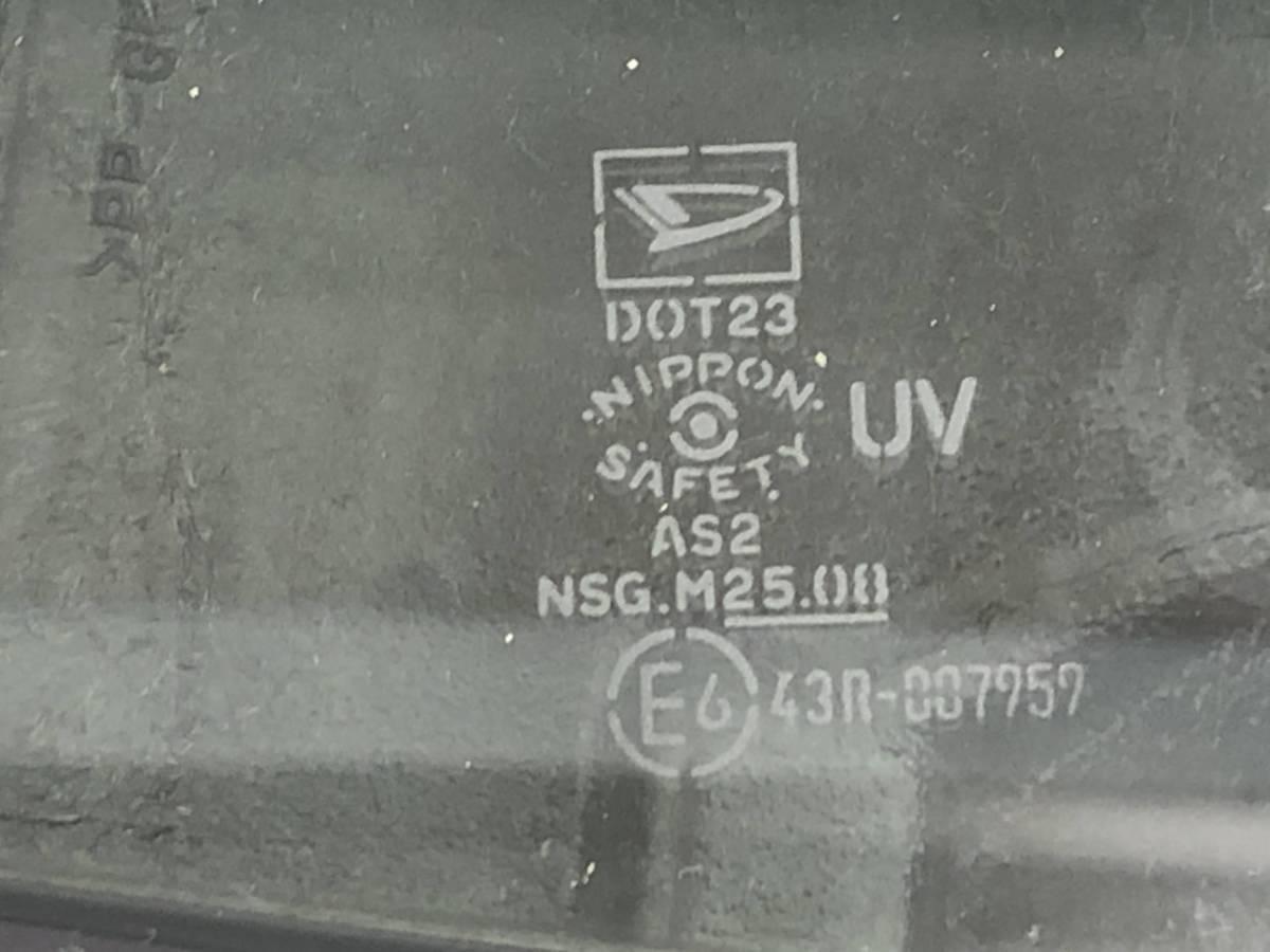 _b50486 ダイハツ ムーヴ ムーブ カスタム R CBA-L150S フロントドア ウィンドウガラス 三角窓 右 F/RH 運転席側 NSG M2508 L152S L160S_画像2