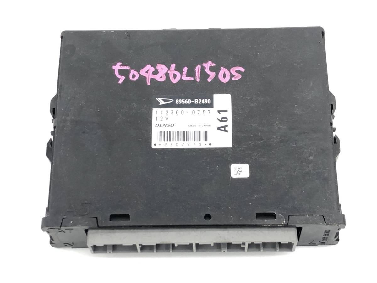 _b50486 ダイハツ ムーヴ ムーブ カスタム R CBA-L150S エンジンコンピューター メイン ECU コントロール EF-DET 89560-B2490_画像1