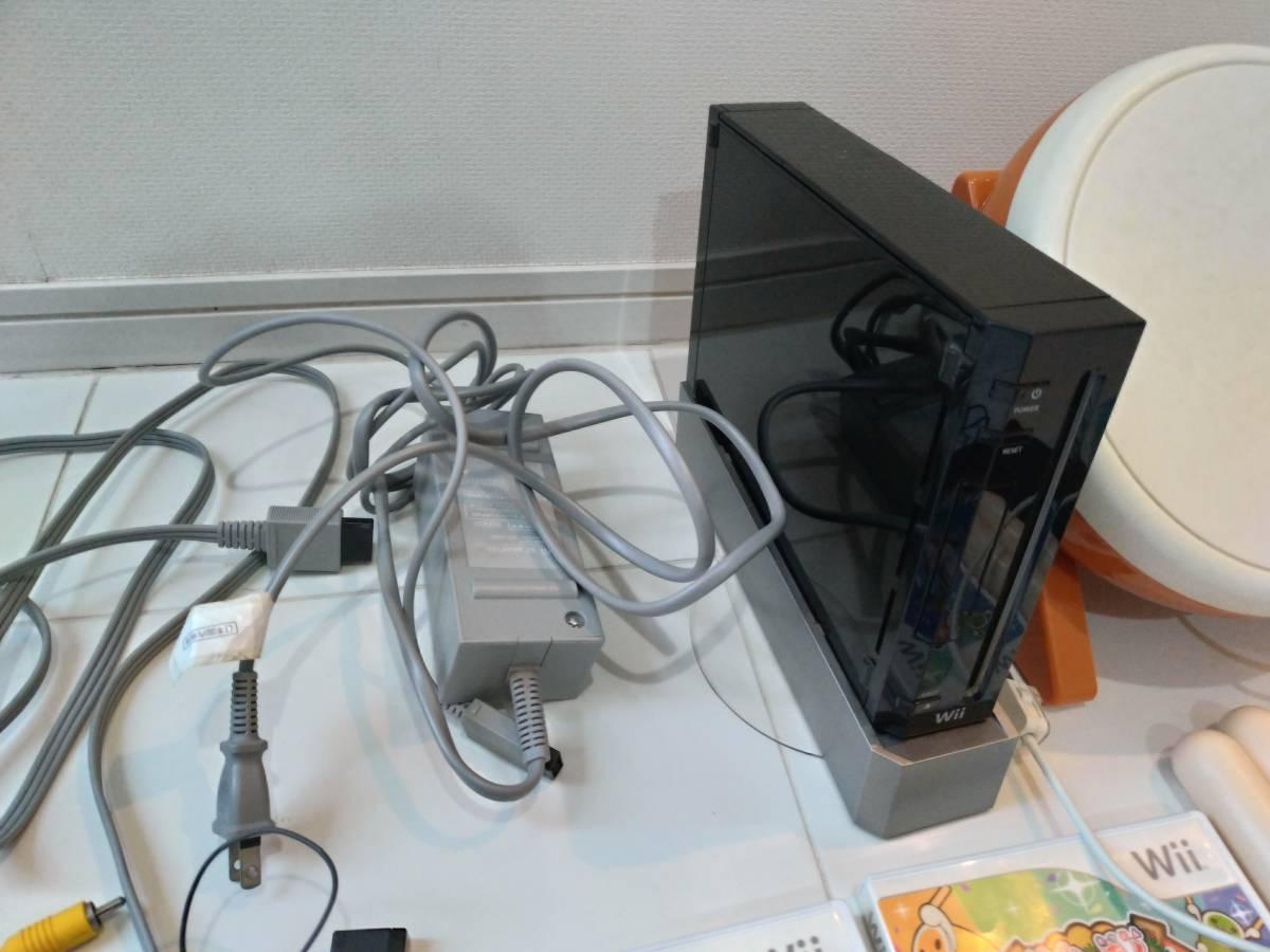 Wii 本体セット太鼓の達 Wiiスポーツ 現状品