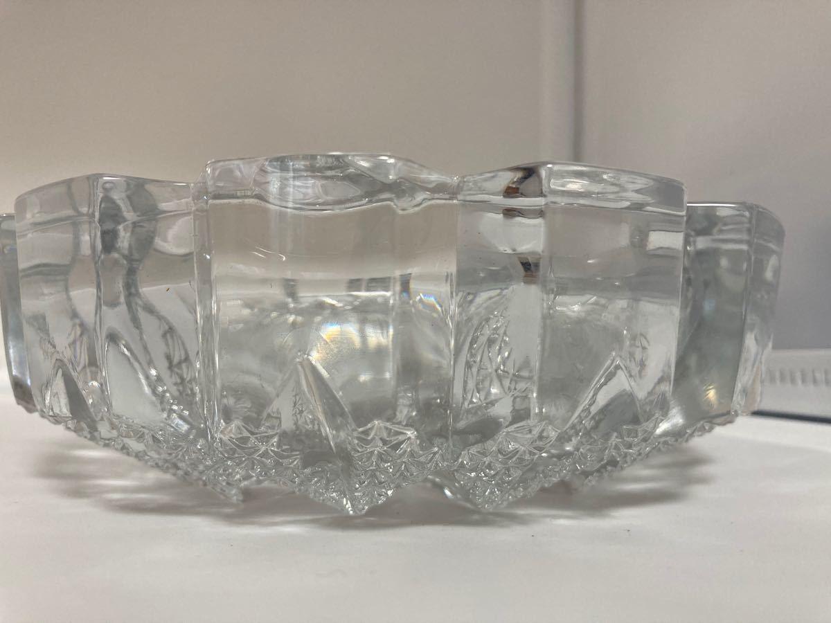灰皿 クリスタルガラス 16cm