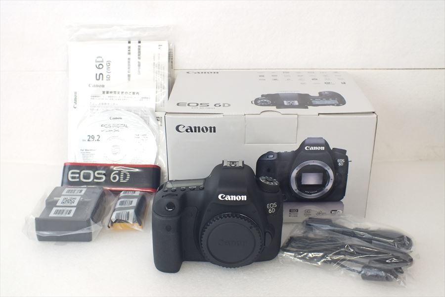■ Canon キャノン EOS6D ボディ デジタル一眼レフ 開封済み未使用 取扱説明書有り 元箱付き 現状品 中古 201202Y5215