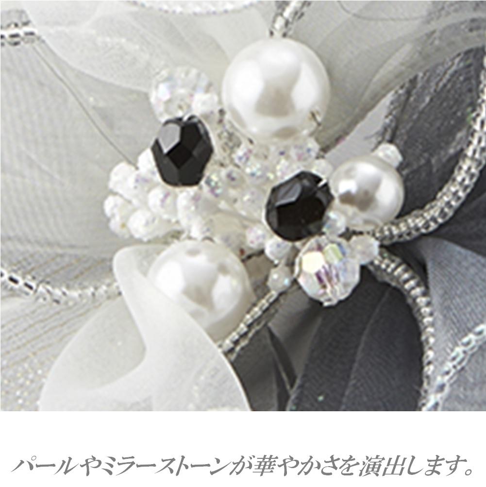 日本製 コサージュ 卒業式 入学式 入園式 結婚式 ブローチ お花 立体 フラワー パール ストーン ビーズ使い フォーマル 301-90_画像2