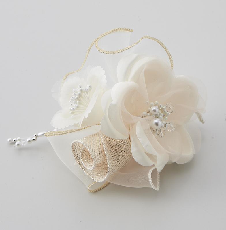日本製 コサージュ 卒業式 入学式 入園式 結婚式 ブローチ お花 立体 フラワー パール ストーン ビーズ使い フォーマル 301-96_画像1