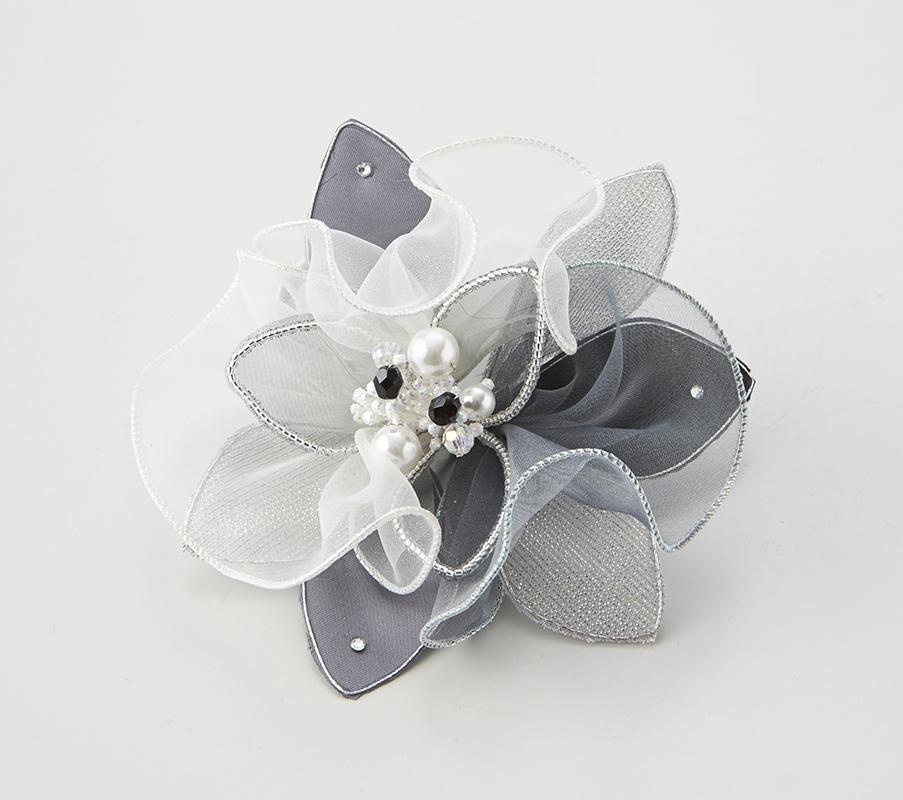日本製 コサージュ 卒業式 入学式 入園式 結婚式 ブローチ お花 立体 フラワー パール ストーン ビーズ使い フォーマル 301-90_画像1