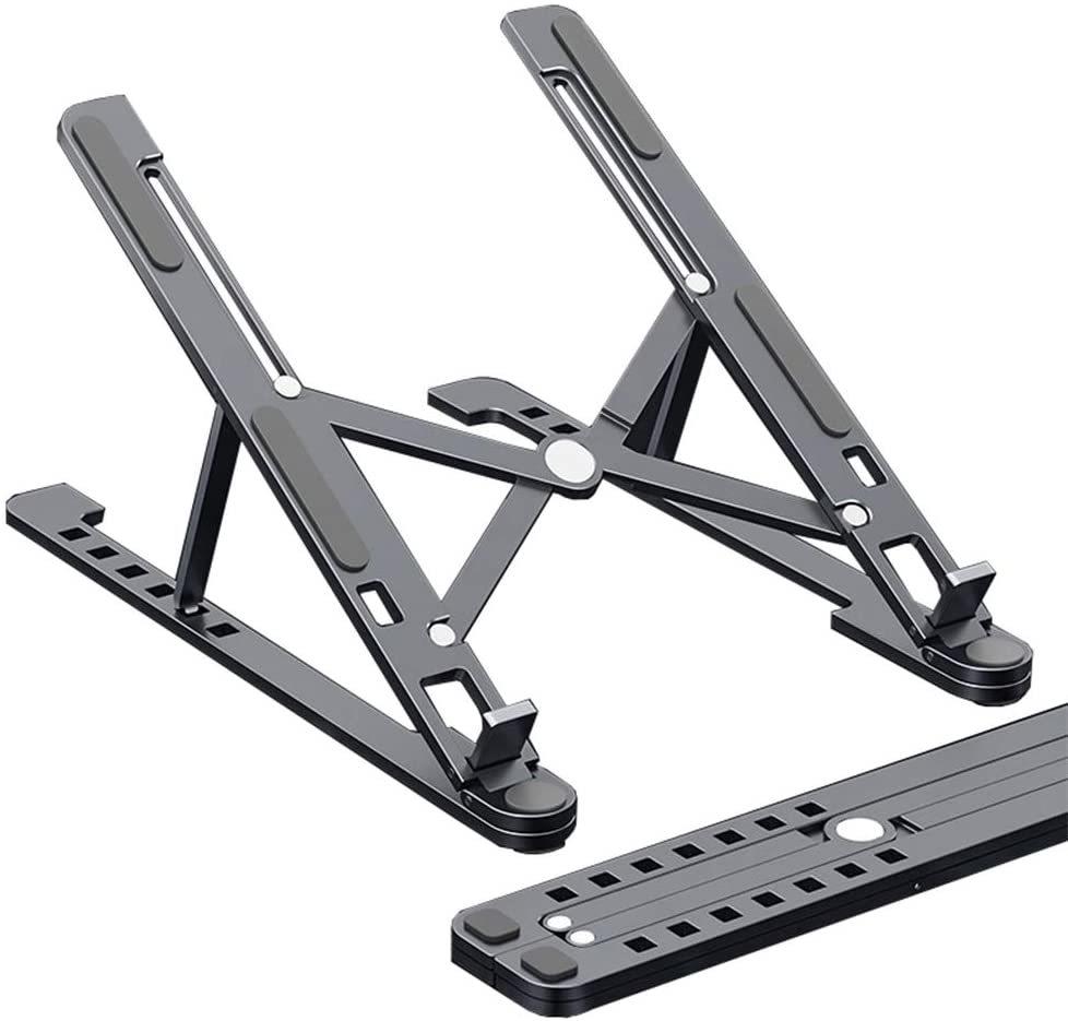 ノートパソコン スタンド pcスタンド 折りたたみ式 ラップトップスタンド アル アルミ合金 8段の高さ調節可能 持ち運び便利