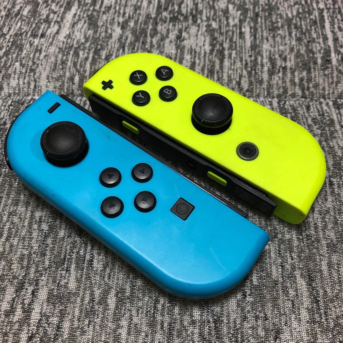 Nintendo Switch Joy-Con ジョイコン ネオンブルー ネオンイエロー 動作確認済み