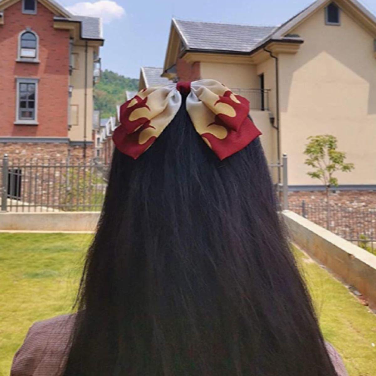 鬼滅の刃 リボン ヘアゴム 髪飾り ヘアアクセサリー!
