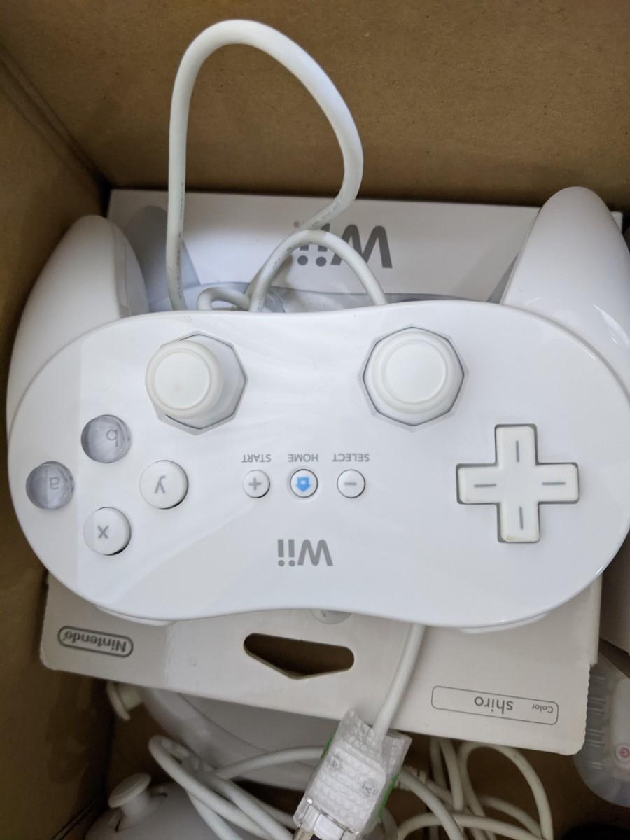 wiiリモコン 7点セット クラシックコントローラPRO ハンドル セット マリオカート Nintendo