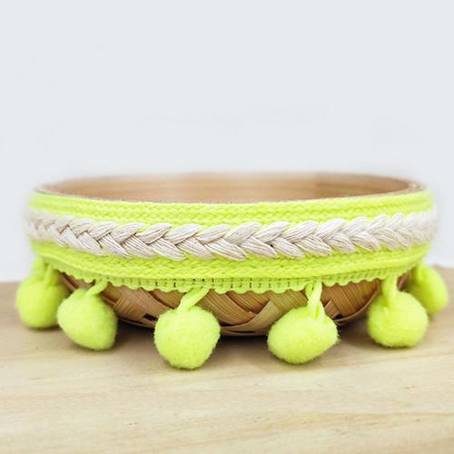 【送料無料】ポンポン リボン クラフト DIY 結婚式 装飾 縫製 布 アクセサリー 3.5センチ Diy 手作り ポリエス_画像5