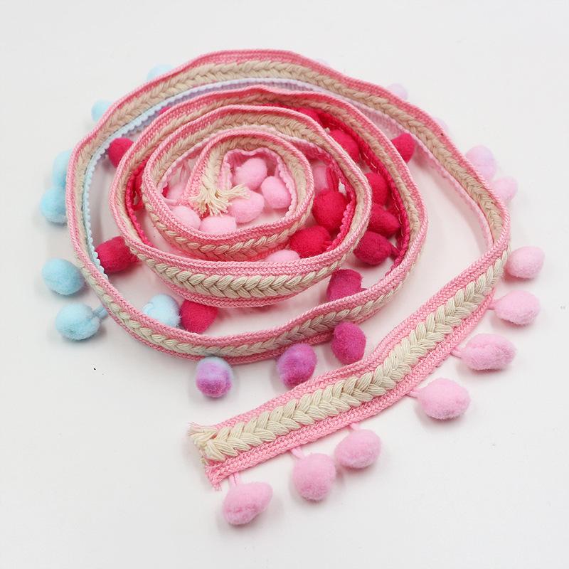 【送料無料】ポンポン リボン クラフト DIY 結婚式 装飾 縫製 布 アクセサリー 3.5センチ Diy 手作り ポリエス_画像10