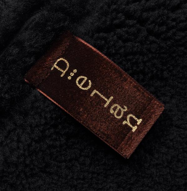 新品19万 Delan デラン 圧倒的な存在感!最高級ムートンレザージャケット (52「XLサイズ相当」) 黒 イタリア製 メンズレザーブルゾン _画像8