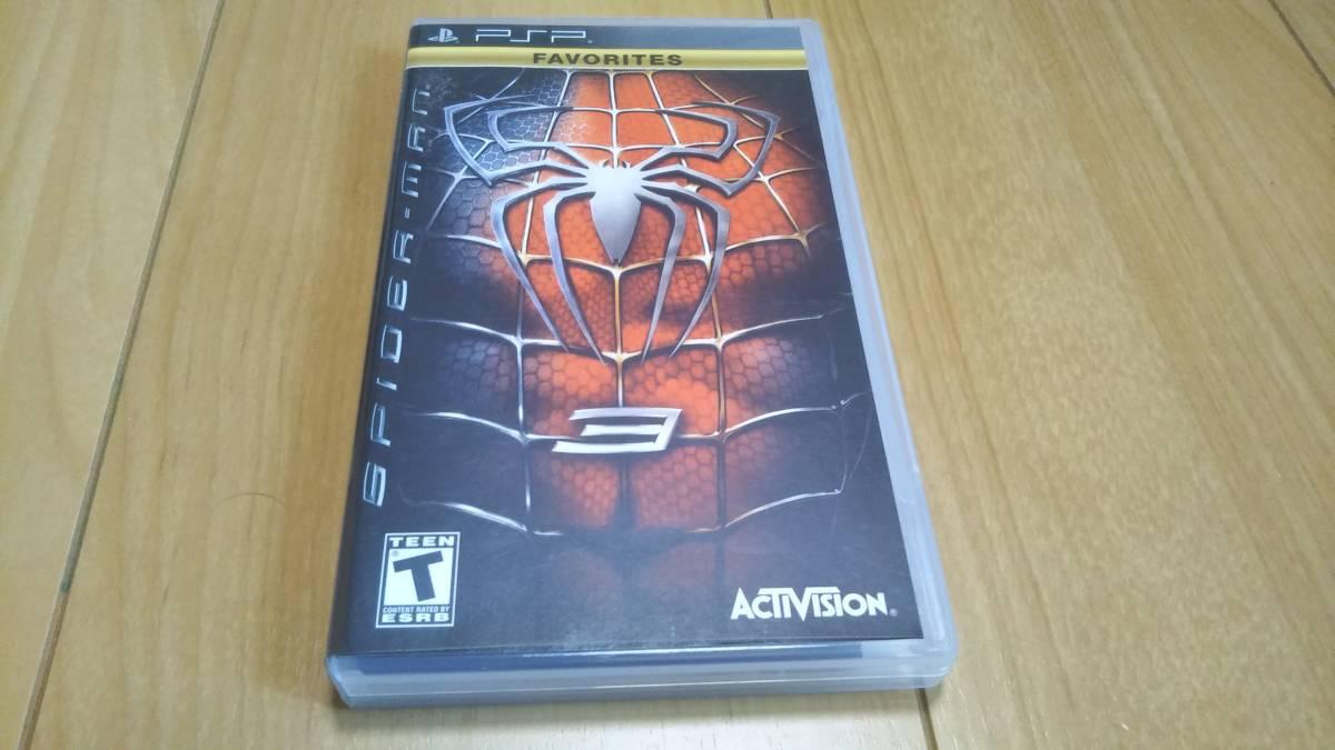 PSP ソフト スパイダーマン3  北米版 海外版 動作確認済