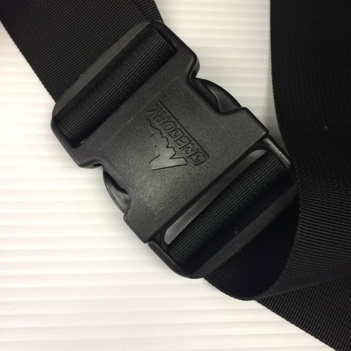 デッドストック USA製 グレゴリー テールメイトS 黒 ブラック ボディバッグ