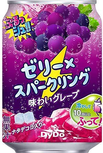 ダイドードリンコ ぷるっシュ!! ゼリー×スパークリング 味わいグレープ 280g ×24本_画像1