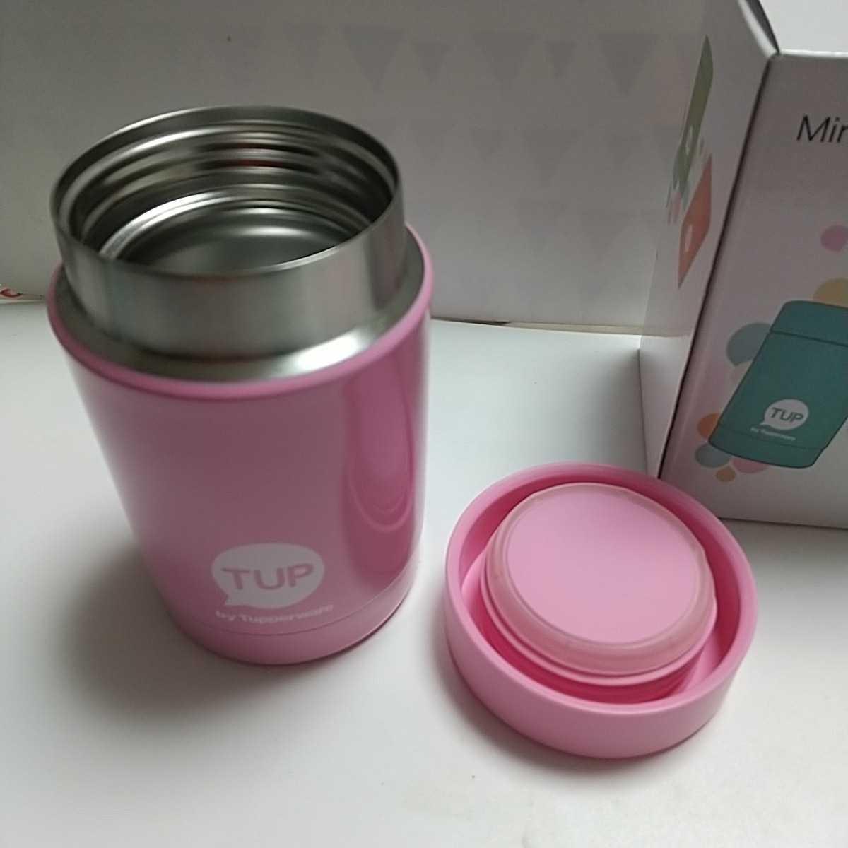 スープジャー ミニサーモ タッパーウェア ステンレス製 ボトル タンブラー 250ml ピンク_画像2