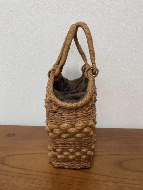 サイズM 新デザイン 未使用品 長野産 職人手編み 網代編み 山葡萄籠バッグ_画像8