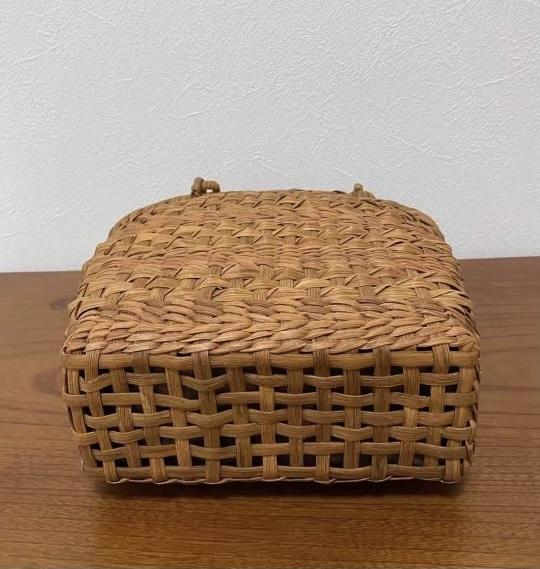 サイズM 新デザイン 未使用品 長野産 職人手編み 網代編み 山葡萄籠バッグ_画像7