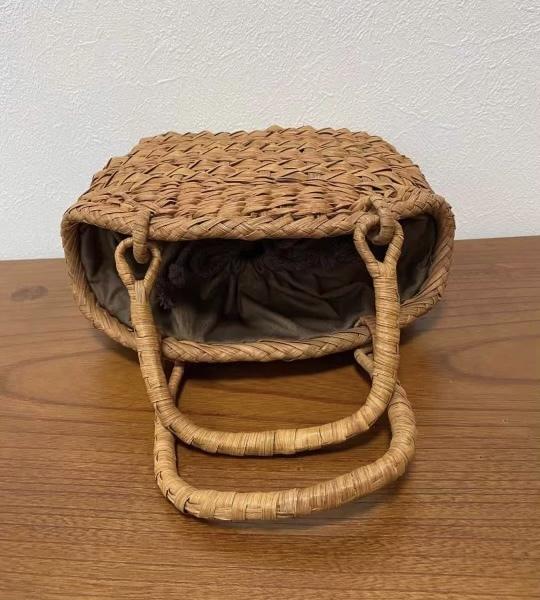 サイズM 新デザイン 未使用品 長野産 職人手編み 網代編み 山葡萄籠バッグ_画像6