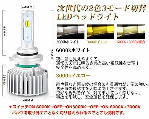 ☆超人気オススメ☆HB4(9006) LEDフォグランプ HB4 9006 3色温度切替 車用 一体式 DC12V-POOPEE_画像3
