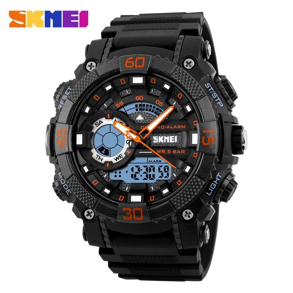 メンズ腕時計トップブランドの高級軍時計 Led デジタルアナログクォーツ時計男性スポーツウォッチ防水レロジオ Masculino_画像2
