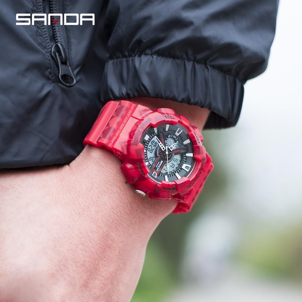 三田ブランドクロノグラフ腕時計男性防水シリコーン時計キャンプ学生ファッションカジュアル腕時計レロジオ 999_画像4