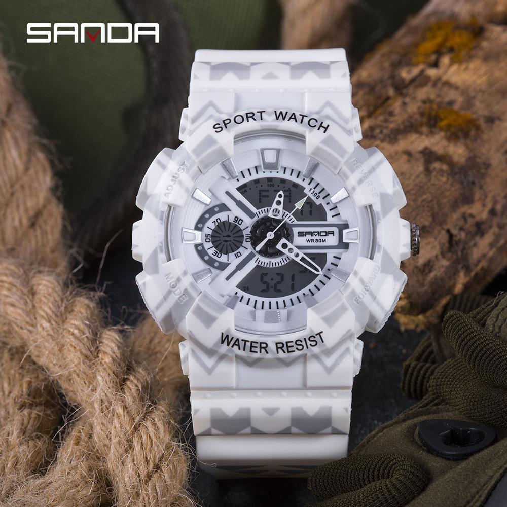 三田ブランドクロノグラフ腕時計男性防水シリコーン時計キャンプ学生ファッションカジュアル腕時計レロジオ 999_画像5
