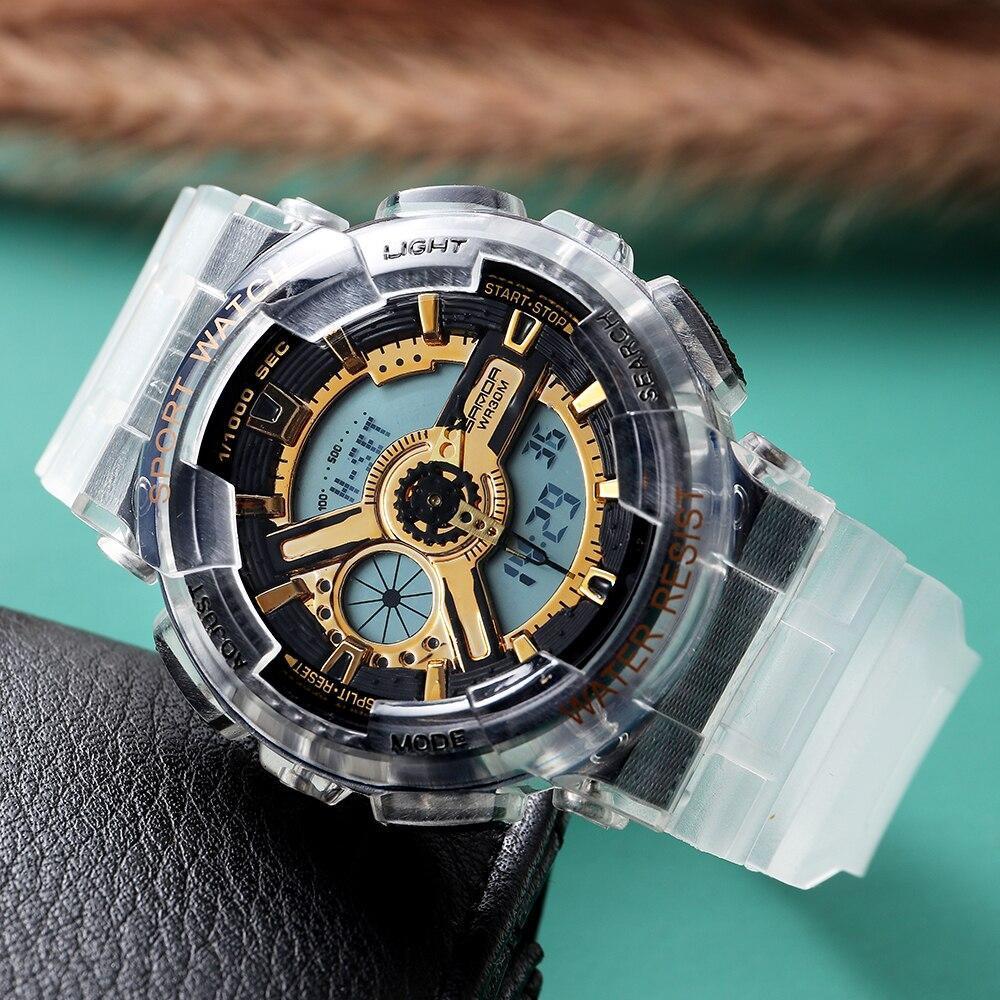 三田298グラムスタイルメンズ腕時計トップブランドの軍事スポーツ腕時計男性時計のショック防水クォーツ時計レロジオmasculino_画像2