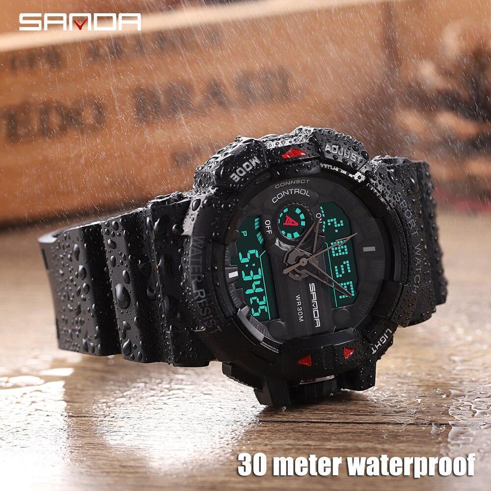 三田 599 ミリタリーメンズ腕時計トップブランドの高級防水スポーツ腕時計ファッションクォーツ時計男性時計レロジオ masculino_画像4