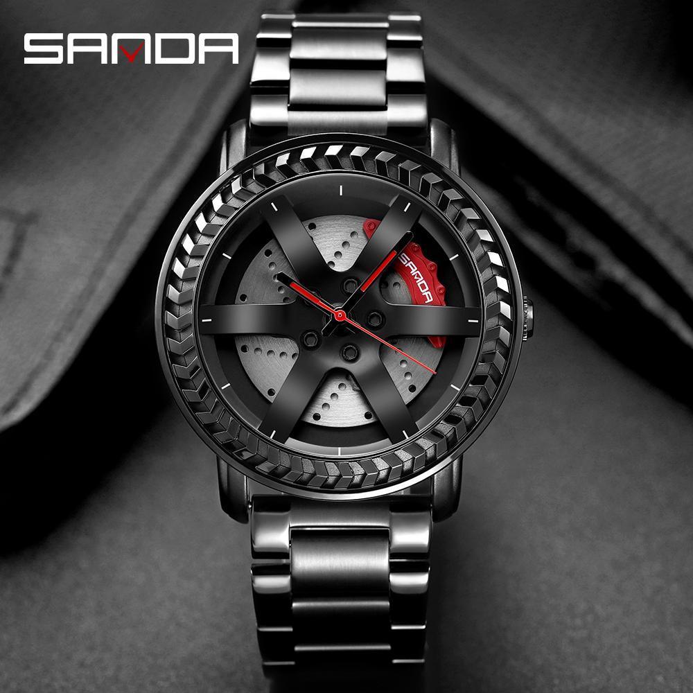 三田男性腕時計トップブランドの高級クォーツ時計ファッションスポーツメンズ腕時計ビジネス防水時計レロジオ masculino P1050_画像1