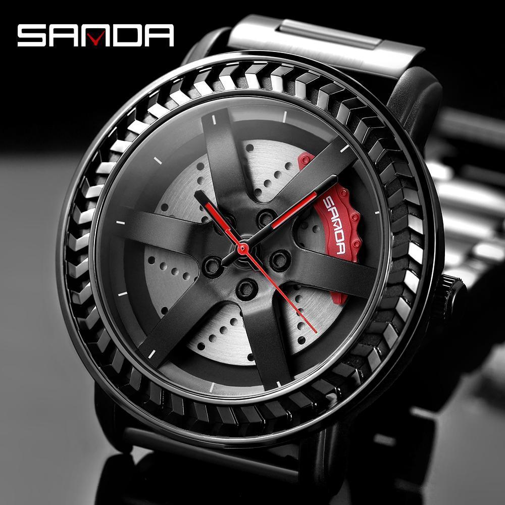 三田男性腕時計トップブランドの高級クォーツ時計ファッションスポーツメンズ腕時計ビジネス防水時計レロジオ masculino P1050_画像2