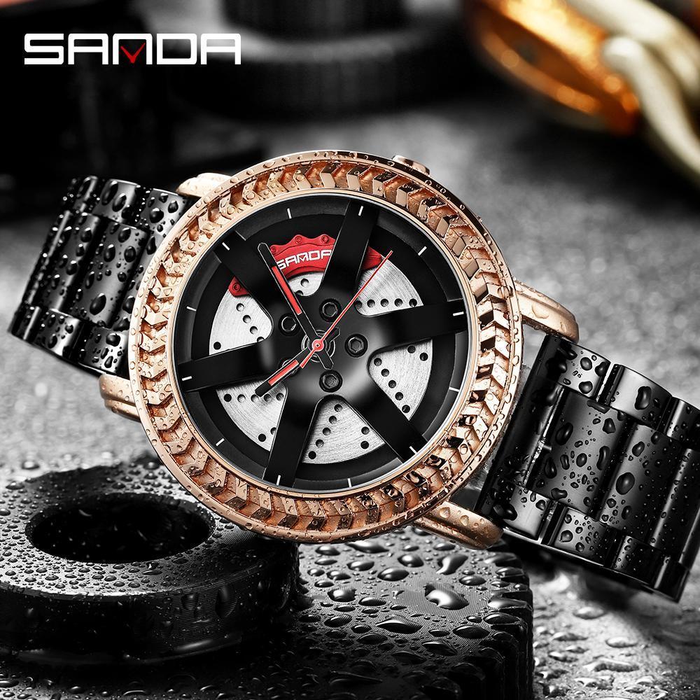 三田男性腕時計トップブランドの高級クォーツ時計ファッションスポーツメンズ腕時計ビジネス防水時計レロジオ masculino P1050_画像3