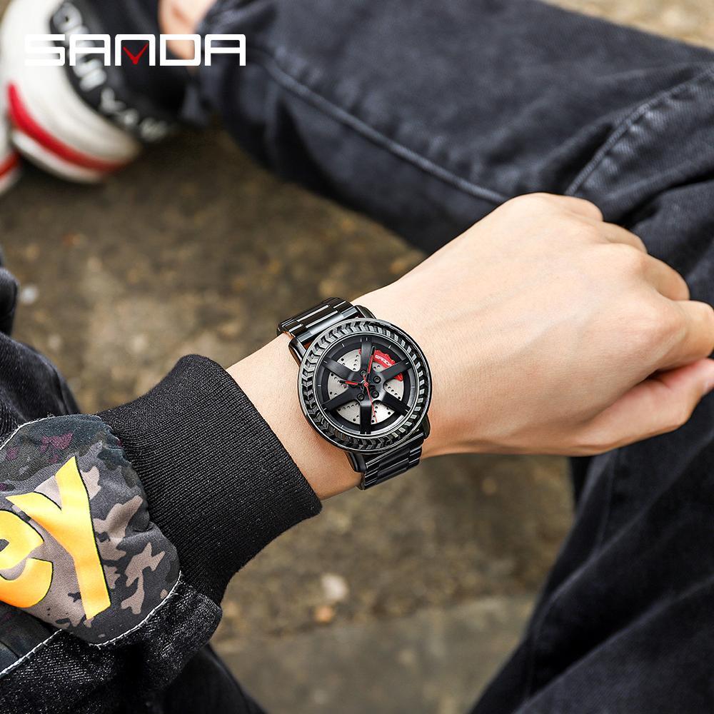 三田男性腕時計トップブランドの高級クォーツ時計ファッションスポーツメンズ腕時計ビジネス防水時計レロジオ masculino P1050_画像4