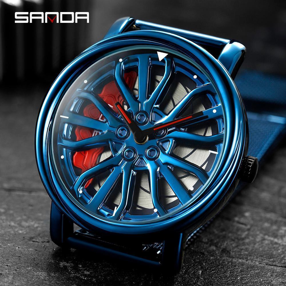 三田トップブランドのメンズ腕時計ファッションの高級クォーツ腕時計ホイールシリーズダイヤル防水時計男性レロジオmasculino 1057_画像3