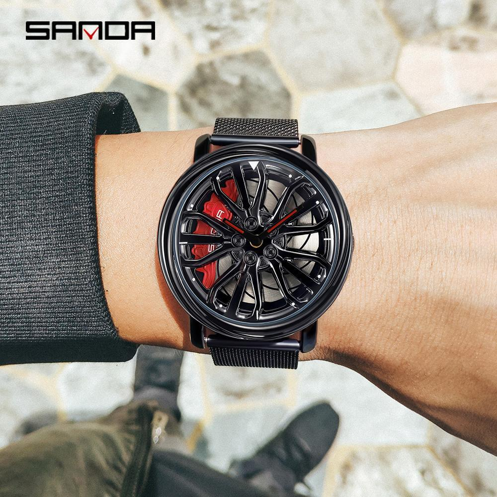 三田トップブランドのメンズ腕時計ファッションの高級クォーツ腕時計ホイールシリーズダイヤル防水時計男性レロジオmasculino 1057_画像4