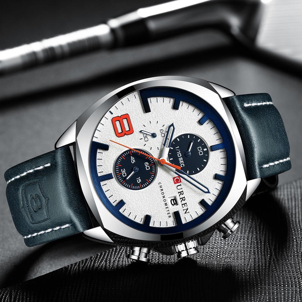 2019男性はトップブランドの高級カレン軍事アナログクォーツ腕時計メンズスポーツ腕時計レロジオmasculino防水30メートル_画像3