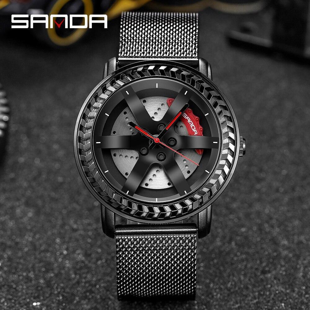 三田ファッションスポーツメンズ腕時計メンズ腕時計トップブランドの高級クォーツ腕時計ビジネス防水時計レロジオmasculino P1050_画像1