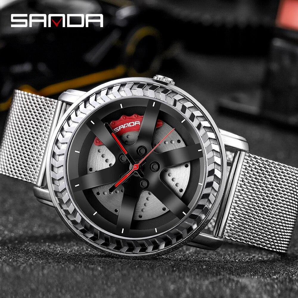 三田ファッションスポーツメンズ腕時計メンズ腕時計トップブランドの高級クォーツ腕時計ビジネス防水時計レロジオmasculino P1050_画像2
