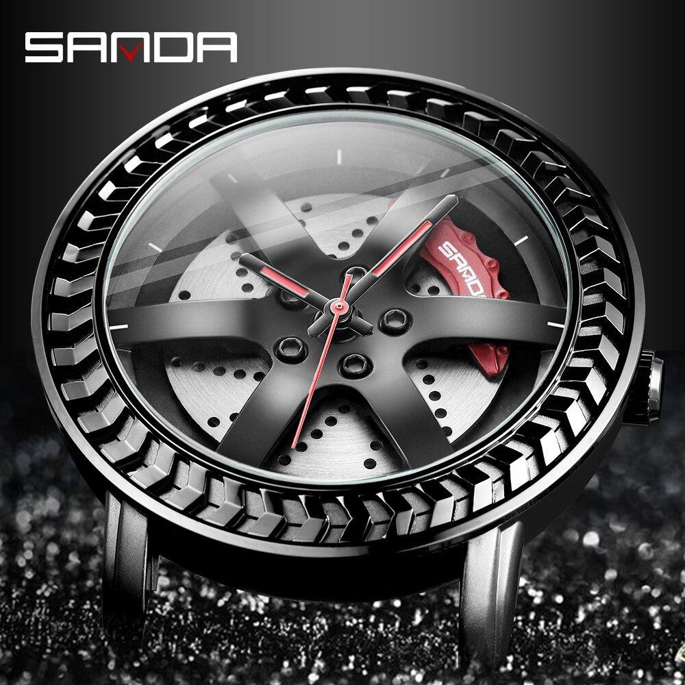 三田ファッションスポーツメンズ腕時計メンズ腕時計トップブランドの高級クォーツ腕時計ビジネス防水時計レロジオmasculino P1050_画像3