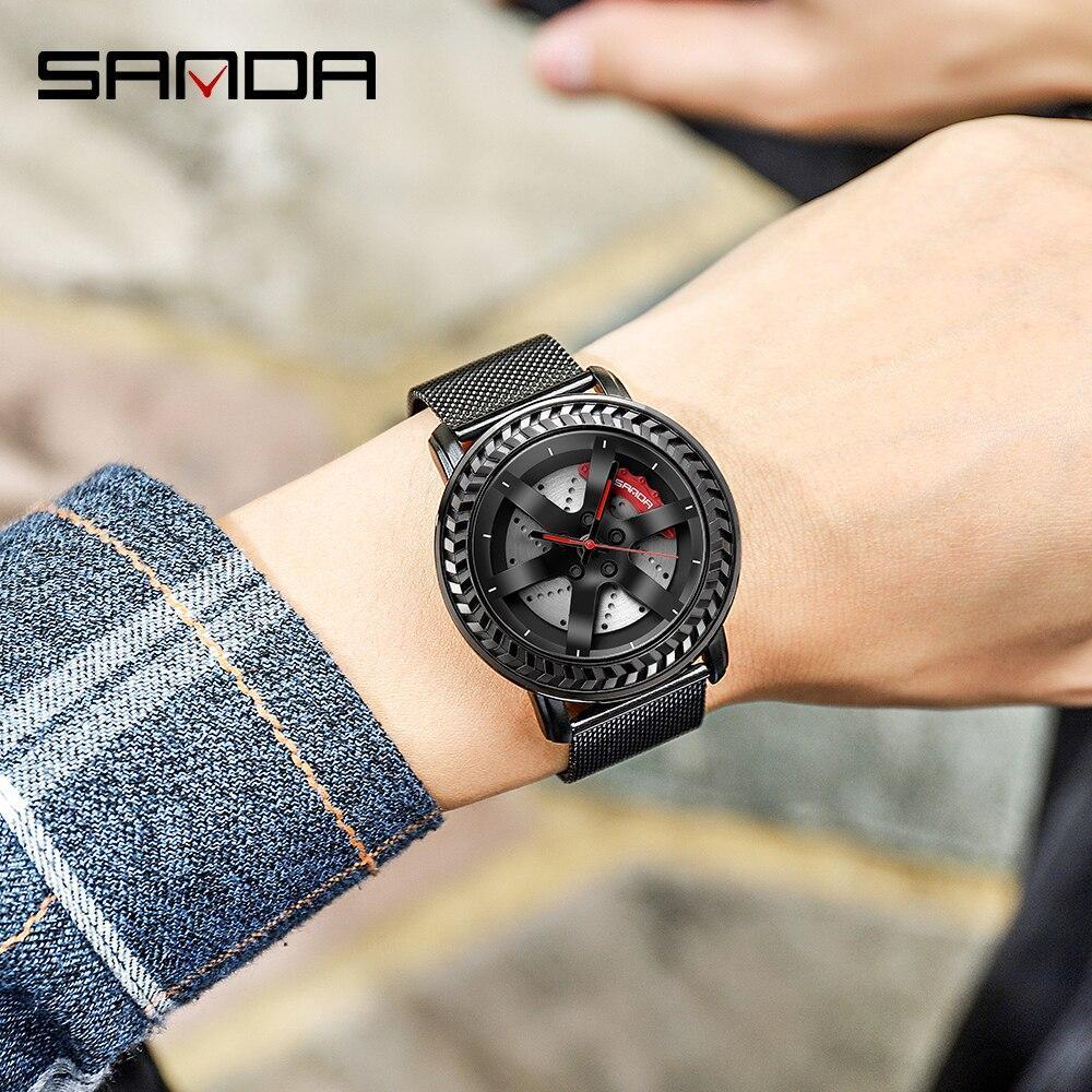 三田ファッションスポーツメンズ腕時計メンズ腕時計トップブランドの高級クォーツ腕時計ビジネス防水時計レロジオmasculino P1050_画像4