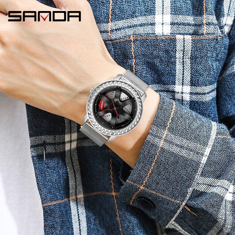 三田ファッションスポーツメンズ腕時計メンズ腕時計トップブランドの高級クォーツ腕時計ビジネス防水時計レロジオmasculino P1050_画像5