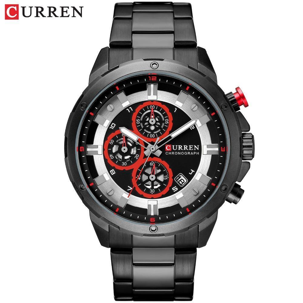 リロイhombresカレン腕時計ファッションスポーツクォーツメンズウォッチトップブランドの高級多機能防水時計レロジオmasculino_画像2