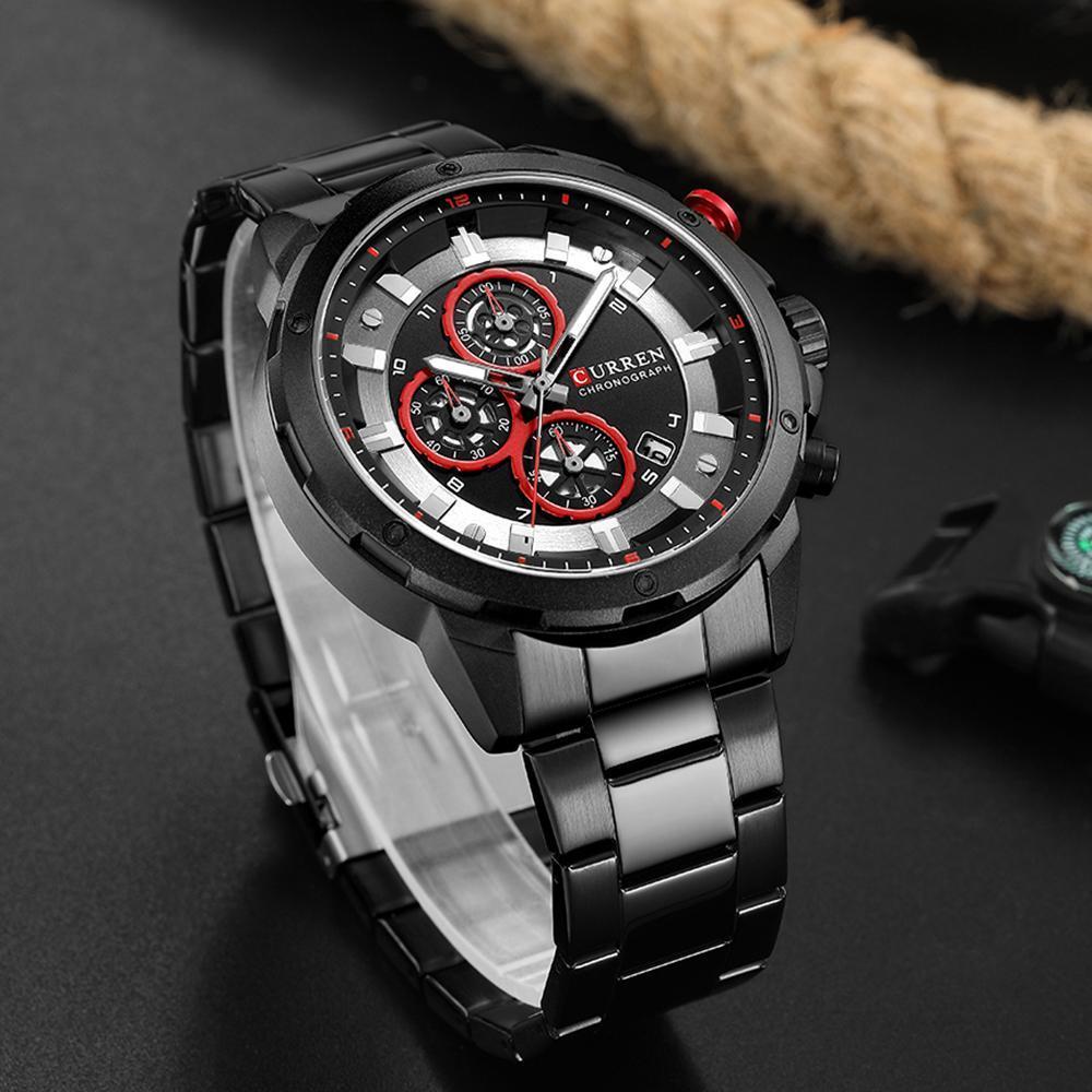 リロイhombresカレン腕時計ファッションスポーツクォーツメンズウォッチトップブランドの高級多機能防水時計レロジオmasculino_画像4